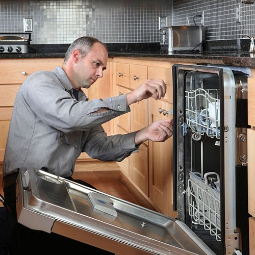 Dishwasher installation in Virginia