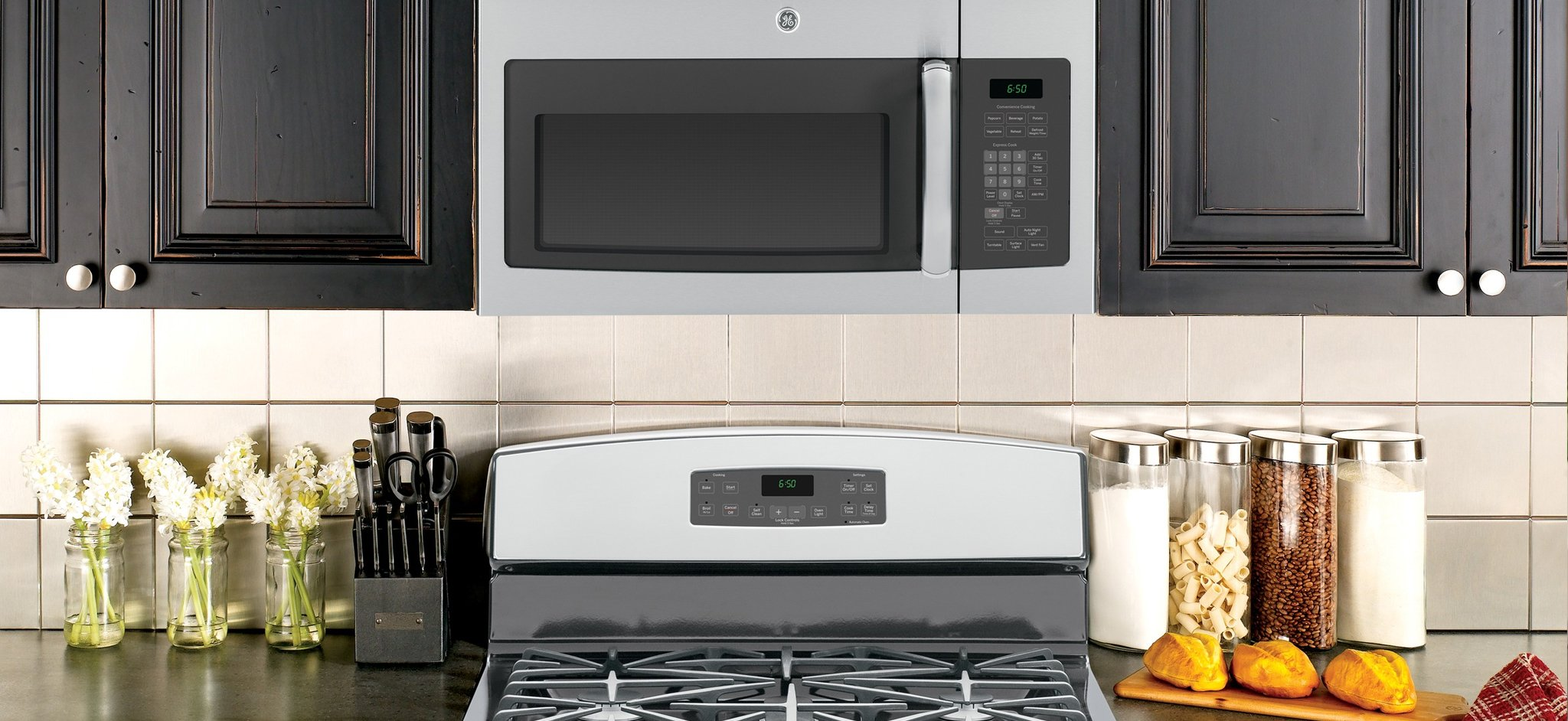 above the stove microwave installation